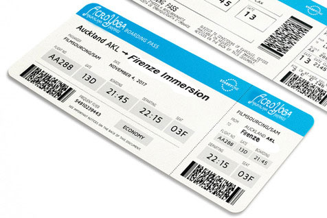 AcroYoga boarding pass